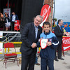 Feile Captain accepts pendant from the GAA President :